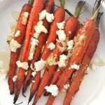 honey goat cheese carrots