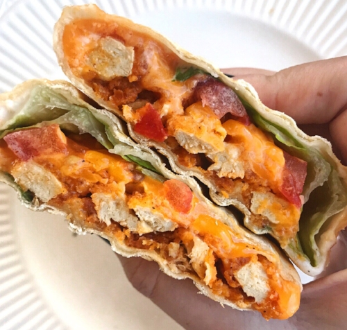 vegetarian buffalo chicken wraps