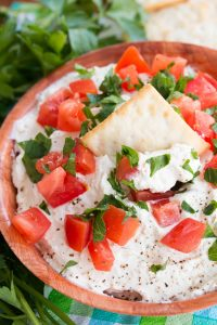 whipped garlic feta dip